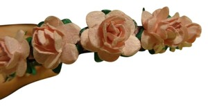Other Beautiful Pink Paper Roses on Black plastic headband