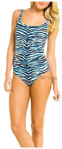 Carmen Marc Valvo Boston Proper Carmen Marc Valvo Zebra Safari Swimsuit 12 NEW