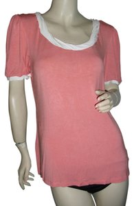 Nicole Miller Top orange & off white