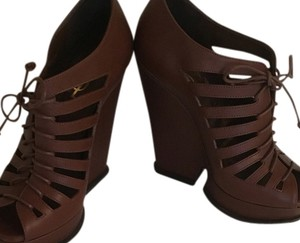 Saint Laurent Leather BROWN Platforms