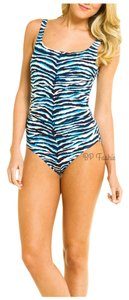 Carmen Marc Valvo Boston Proper Carmen Marc Valvo Zebra Safari Swimsuit 10 NEW