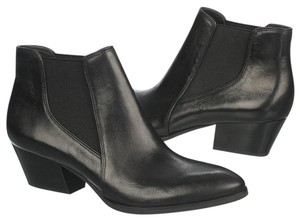 Franco Sarto Leather Ankle 7.5 Black Boots