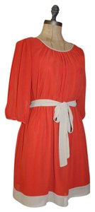 Sweet Storm short dress ORANGE Beige Belted Sumemery on Tradesy