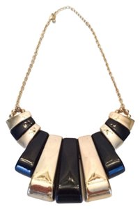 H&M H&M Black & Gold Bar Statement Necklace