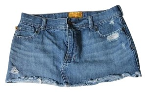 Hollister Jean Cutoff Mini Skirt Denim