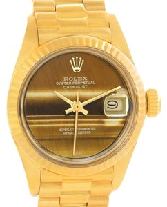 Rolex Rolex President Datejust Ladies 18k Yellow Gold Tiger Eye Watch 6917