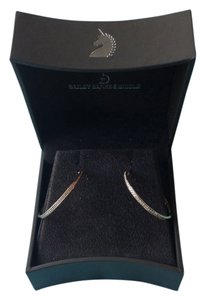 Bailey Banks Biddle Micro Pave Diamond Hoop Earrings