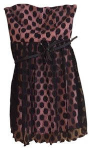 Trixxi short dress Pink and black on Tradesy
