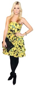 Alice + Olivia short dress Iris Yellow on Tradesy