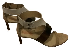 Reed Krakoff Tan/gunmetal/cream Sandals