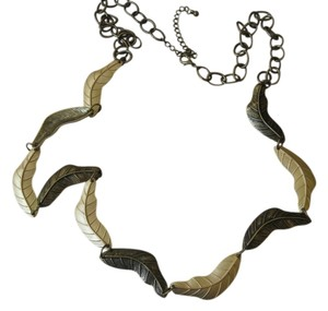 Kate Bissett Kate Bissett Two-Tone Leaf Necklace