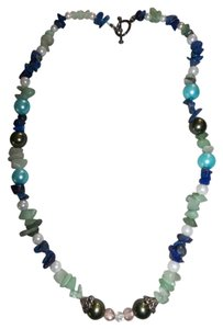 Other Blue, Aqua, Green, Pearl Shell Necklace