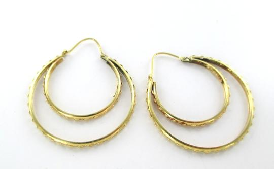 Other 14KT YELLOW GOLD EARRINGS DOUBLE HOOPS