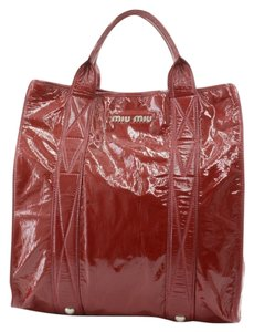 Miu Miu Handbags Crinkle Tote in Red