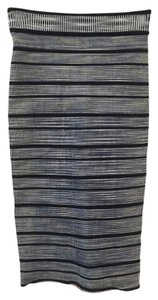 Ronny Kobo Collection Striped Bodycon High Wasted Skirt Blue, black, white