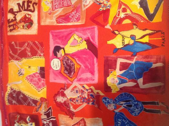 Hermes Authentic Hermes 100%silk scarf