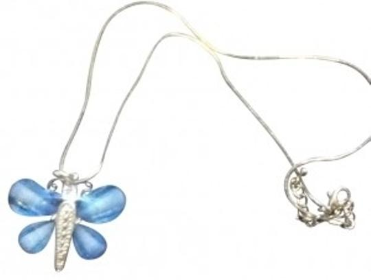 Preload https://img-static.tradesy.com/item/127428/sliver-with-baby-blue-butterfly-necklace-0-0-540-540.jpg
