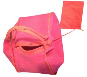 Hermes Pink and Red Beach Bag