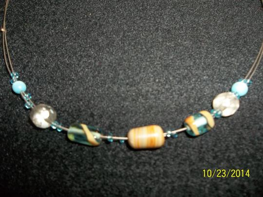Other Brown/Blue/Clear Bead Choker