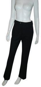 Prada Deep Navy Mid Rise Leg Career Straight Pants black