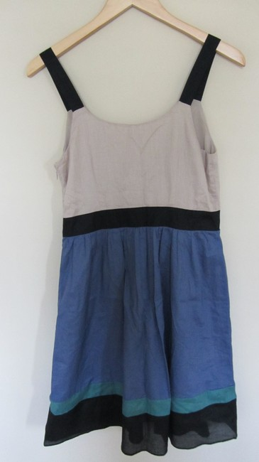 Ann Taylor LOFT short dress Blue, beige on Tradesy