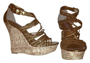 Jennifer Lopez Bronze Wedges