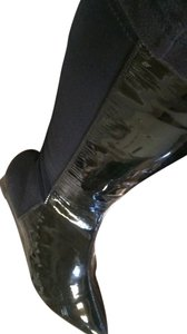 Vaneli Patent Leather Black Boots