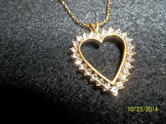 Other Gold Chain w/ Cubic Zirconia Heart