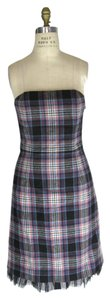 Tibi Plaid Wool Dress