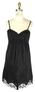Voom by Joy Han short dress dark gray with black Lace Crochet on Tradesy