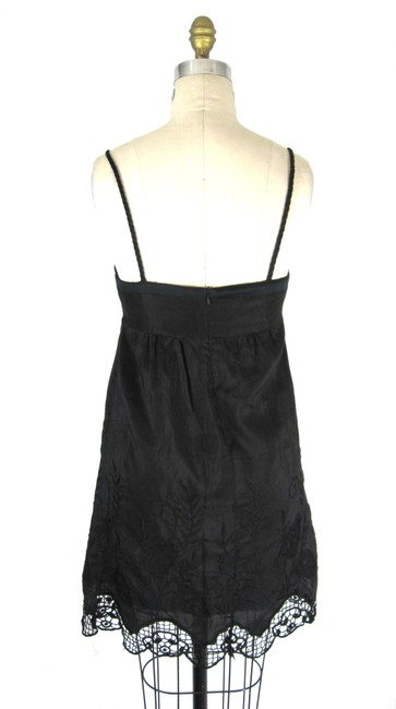Voom by Joy Han short dress dark gray with black Lace Crochet Babydoll on Tradesy