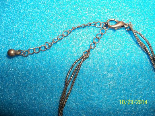 Other Bronze Chain w/ Wood, Pink and Embellished Beads