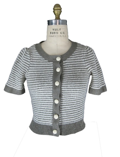 Preload https://item3.tradesy.com/images/anthropologie-cropped-striped-cardigan-gray-1274772-0-0.jpg?width=400&height=650