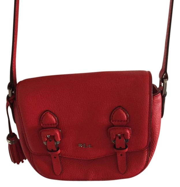 Item - Web Id: 961104 Red Leather Cross Body Bag