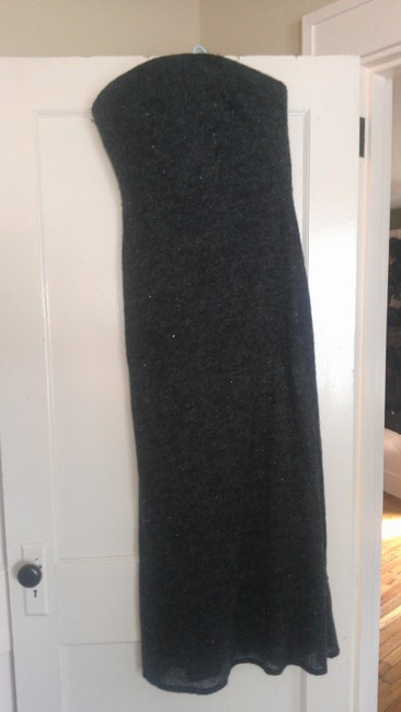 Item - Gray W Mohair W/ Separate Cowl/Shawl -must See- Medium Long Formal Dress Size 8 (M)