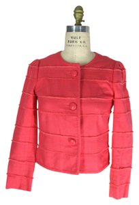 J.Crew Cropped Ladylike Pink neon rose Jacket