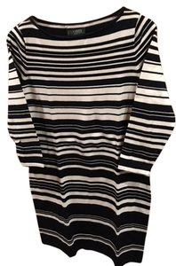 Ralph Lauren short dress Black & White Stripes Sweater Striped on Tradesy