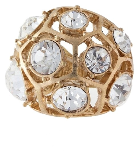 Other Big Faceted Bead Dome Ring Sz 7+