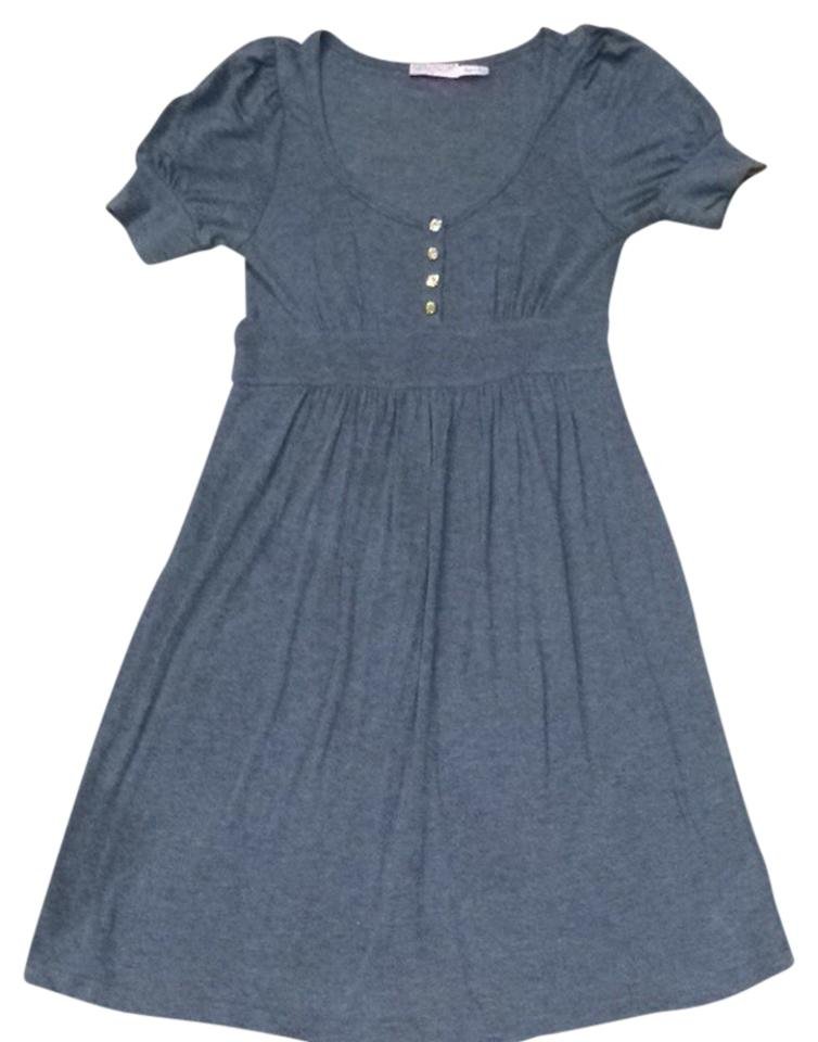 e44f6a08f951 Juicy Couture Grey Sundress Shortsleeve Above Knee Short Casual ...