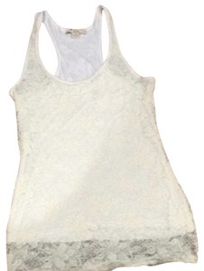Forever 21 Cami Lace Neutral Top Cream