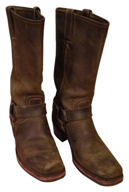 Item - Olive Harness Boots/Booties Size US 8.5 Regular (M, B)