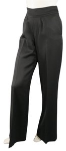 Oscar de la Renta Tuxedo Straight Leg Wide Leg High Rise Ribbon Pants