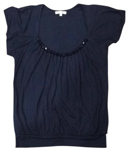 Matty M Embellished Short Sleeve Top Navy