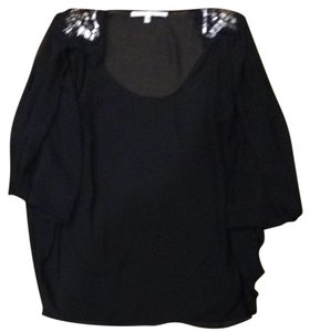 Collective Concepts Beaded Top Black