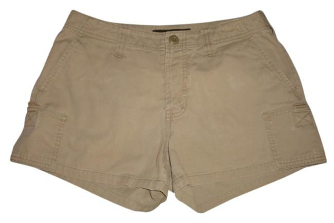 Abercrombie & Fitch And Khaki Tan Vintage Distressed Cargo Shorts