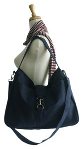 Handmade Messenger Diaper School Laptop Tote Women For Her Canvas Cotton Tradesy Sale Navy Blue Messenger Bag