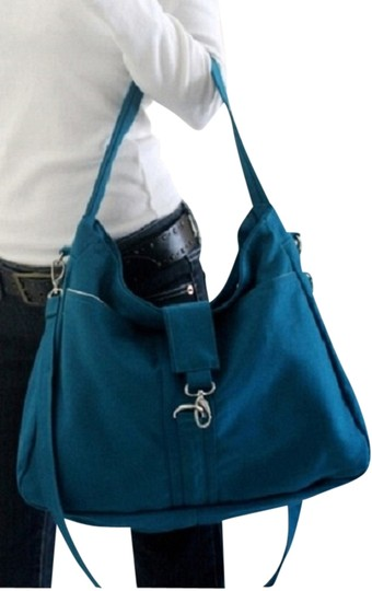 Handmade Messenger School Laptop Tote Women For Her Canvas Cotton Tradesy Sale Teal Diaper Bag