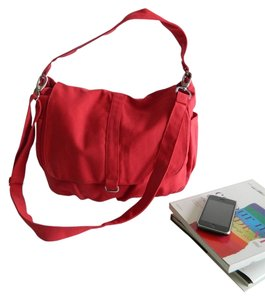 Handmade Messenger Diaper School Laptop Tote Women For Her Canvas Cotton Tradesy Sale Red Messenger Bag