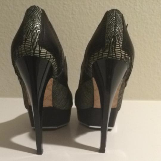 L.A.M.B. Black And White Pumps