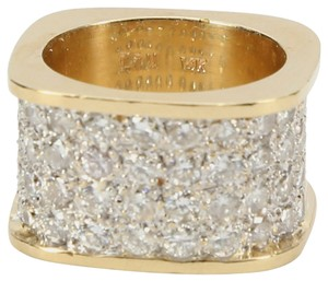 Pave Set Diamond Gold Ring Band